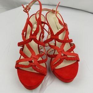 BCBG Red Sexy Platform Heels